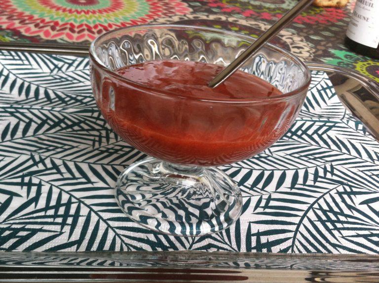 Recette de Compote de quetsches épicée cannelle gingembre sans sucre ajouté