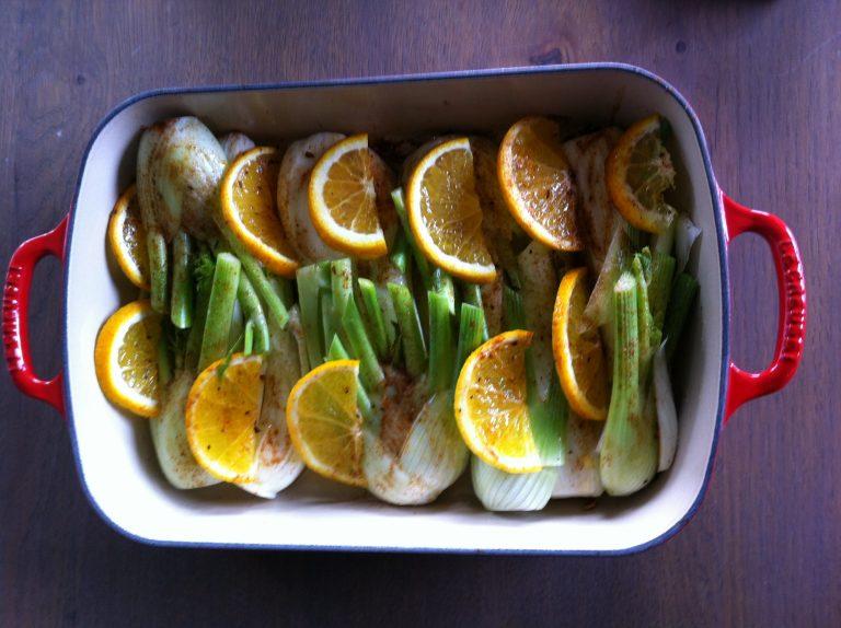 Recette Fenouils fondus orange 1