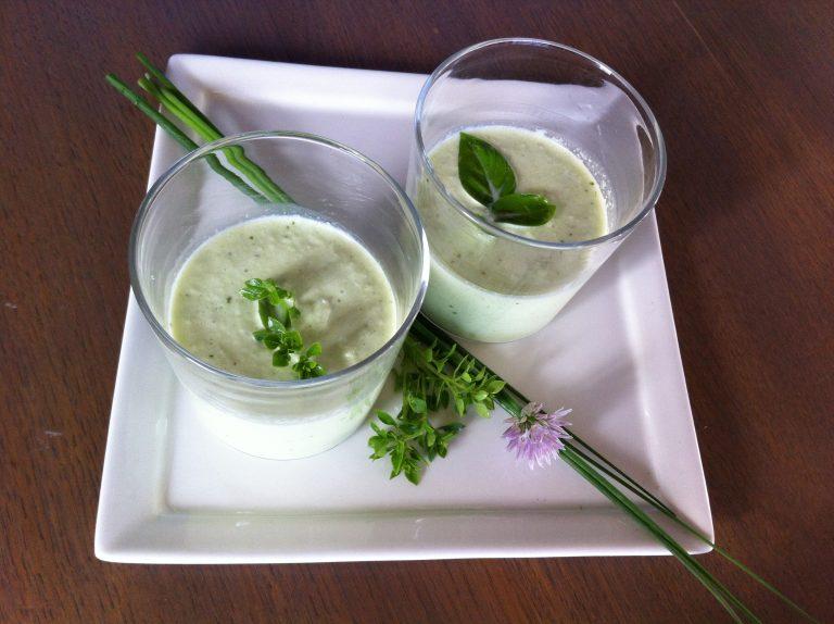 Recette Mixée de concombre au fromage frais